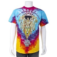Jimi Hendrix Axis Tye-Dye by Liquid Blue Tee