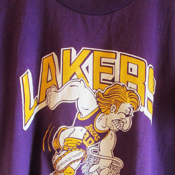 Vintage 1970's Retro LA Lakers T Shirt
