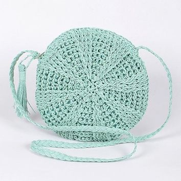 Fun in The Sun Straw Round Purse