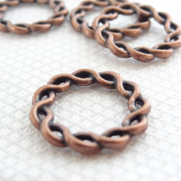 copper rings jewelry making supplies connector