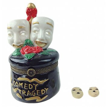 Comedy and Tragedy Mask Shakespeare Hinge Box