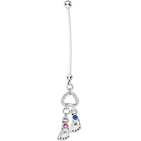 Custom Birthstone Personalized Pregnancy Belly Ring MADE WITH SWAROVSKI ELEMENTS | Body Candy Body Jewelry