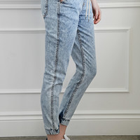 Mineral Wash Denim Joggers