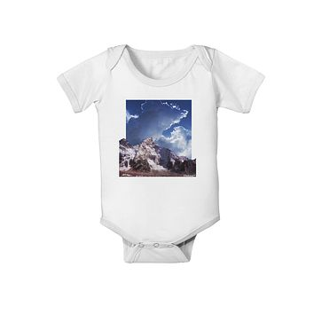 Mountain Pop Out Baby Romper Bodysuit by TooLoud