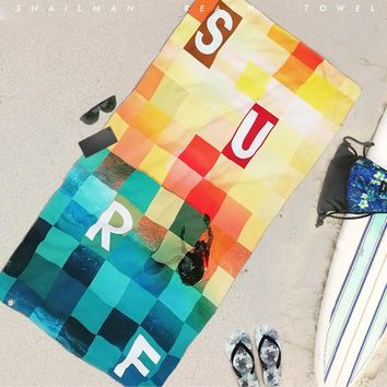 Brand Surfing  Towel Microfiber Travel Picnic Towel Surfboard Dive Hawaii Compact beach Towel