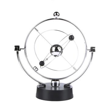 1PC Kinetic Orbital Revolving Gadget Perpetual Motion Desk Art Milky Way Toy Office Decor Educational Science Art