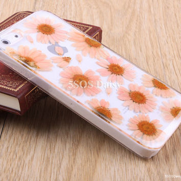 Daisy iPhone 5 case, iPhone 4 case, iPhone 4s case, iPhone 5s case, iPhone 5c case, Pressed Flower Galaxy S4 S5 Note 3 - 01005-4