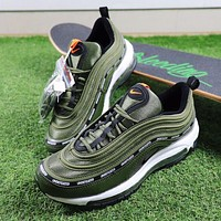 Undefeated X Nike Air Max 97 Army Green Sport Running Shoes - Beauty Ticks