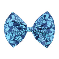 Doctor Who Damask TARDIS Hair Bow