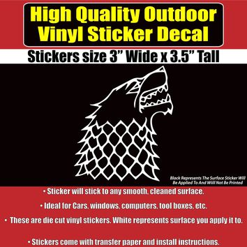 Game of Thrones Dire Wolf TV Vinyl Car Vehicle Window Decal Sticker