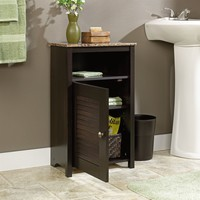 Bathroom Floor Cabinet with Shelf & Faux Granite Top