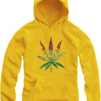 100% cotton weed leaf hoodies skateboard winter autumn sweatshirts maple leaf th