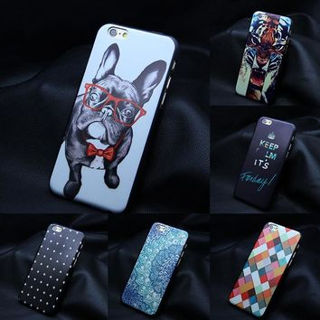 MISSCASE Phone Case for iPhone 6 6s plus 5 5s se Cute Animal Printed Flowers PC Hard Protection Cover Cases for iPhone 5 se 4 4s