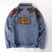 Gucci: Men/Women Embroidery Floral Chaqueta