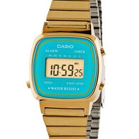 la670wgat - LA670WGA-2 Casio Gold & Teal Ladies Digital Watch