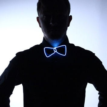 Light Up Bow Tie- White