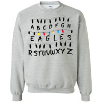 Stranger Things Birds Crewneck Pullover Sweatshirt