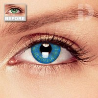 iD Lenses Sapphire Blue Coloured Contacts