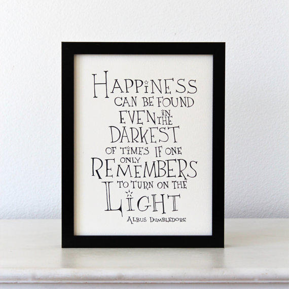 Movie Quotes Wall Art : Happiness can be found harry potter from simpleserene