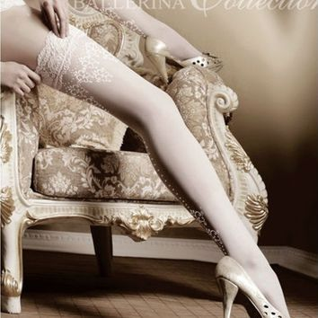 Ballerina Hosiery 003 Hold Ups Thigh High Stockings