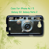 leica camera - iphone 4 / 4S case , iphone 5 case , Samsung Galaxy S3 and Note 2 case in black or white