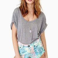 Bonitas Cutoff Shorts - Speckle