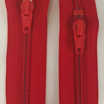 (Red) Jumpsuit Zipper, 22""