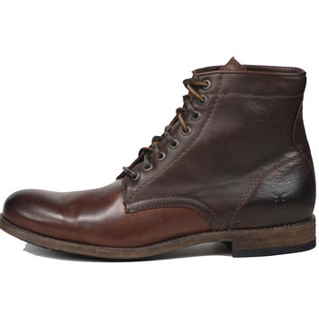 Frye Tyler Lace-Up Mens Boot Dark Brown