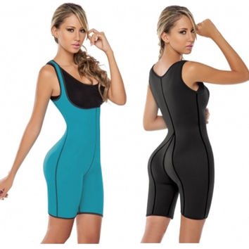 Strapped Waist Cincher Body Shaping Suit For Women