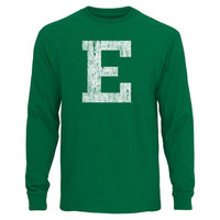 Eastern Michigan Eagles Distressed Primary Long Sleeve T-Shirt - Green
