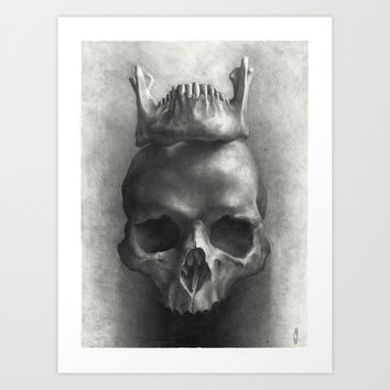 The King Is Dead, Long Live the King Art Print by Julian Farrar