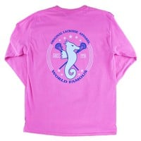 Long Sleeve Pink Seahorse Shirt | Lacrosse Unlimited