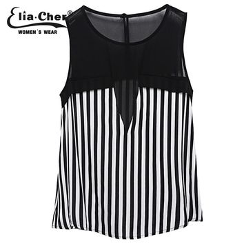 Women Chiffon Tops  Print Fashion Fitness Summer Women Top Elia cher Brand Chic Plus Size Tops