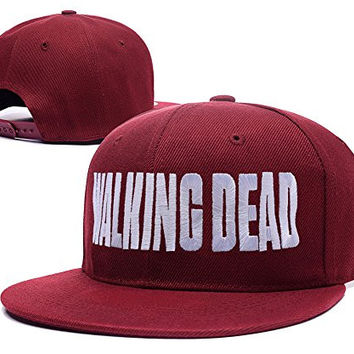 HAIHONG The Walking Dead Logo Adjustable snapback Embroidery Hats Caps - Red