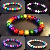 PRIDE Flag Inspired Miracle Bead Bracelets! LGBT, Asexual, Bisexual, Pansexual, Transgender, and ANY Flag or Custom Combo