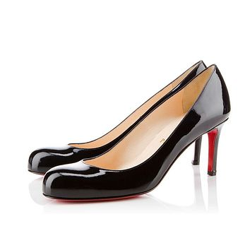 Christian Louboutin Cl Simple Pump Black Patent Leather Pumps 3080363bk01 -