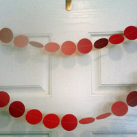Red Paper Circle Garland Perfect for Weddings Bridal or Baby Showers Birthdays Parties Christmas Polka Dot Banner 10 Feet Long!
