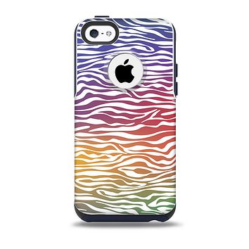 The Colorful Vector Zebra Animal Print Skin for the iPhone 5c OtterBox Commuter Case