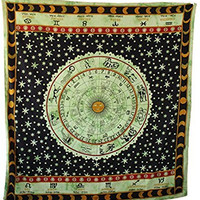 Handicrunch Hippie Mandala Tapestry, Flower Colorful Hippie Wall Hanging, Home Decor Wall Hanging, Table Cloth Home Décor Bed Spread