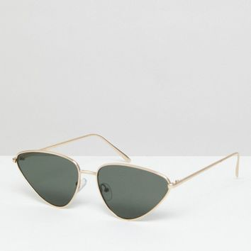 ASOS Almond Metal Cat Eye Sunglasses at asos.com