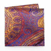 Scarlet Paisley Pocket Square