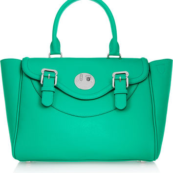 Hill & Friends - Happy Satchel textured-leather tote