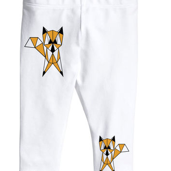 Geometric fox baby leggings pants