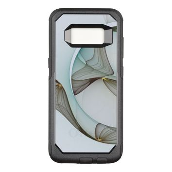 Abstract Modern Turquoise Brown Gold Elegance OtterBox Commuter Samsung Galaxy S8 Case