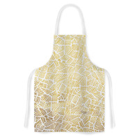 "Pom Graphic Design ""Inca Gold Trail"" Yellow Brown Artistic Apron"
