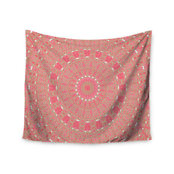 "Sylvia Cook ""Boho Hearts Coral"" Pink Orange Wall Tapestry"