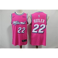 Miami Heat 22 Jimmy Butler Pink Basketball Jersey