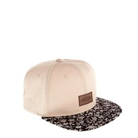 ASOS Snapback Cap with Floral Peak