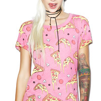 Wildfox Couture Extra Cheese Easy Tee Bougainvillea