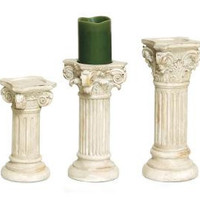 3 Candle Holders - Marble Look